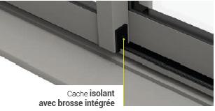 Cache isolant avec brosse intégrée