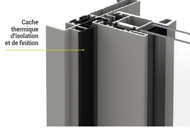 Cache thermique d'isolation et de finition