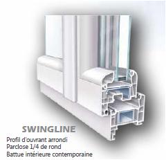 fen tre pvc 2 ouvrants sur mesure gamme swingline pose en tunnel. Black Bedroom Furniture Sets. Home Design Ideas