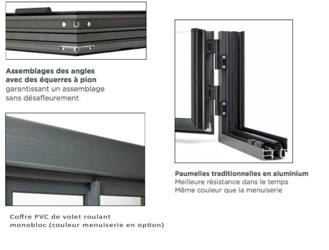 Porte fen tre deux vantaux en aluminium sur mesure gamme for Fenetre aluminium sur mesure