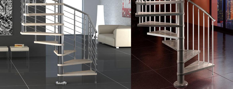 Escalier moderne colimaçon, un élément central dans votre décoration