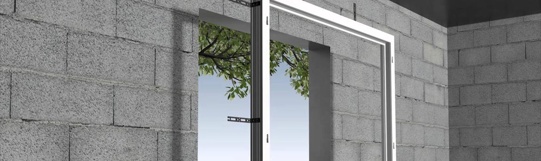 Pose d'une fenêtre en applique sur une construction neuve