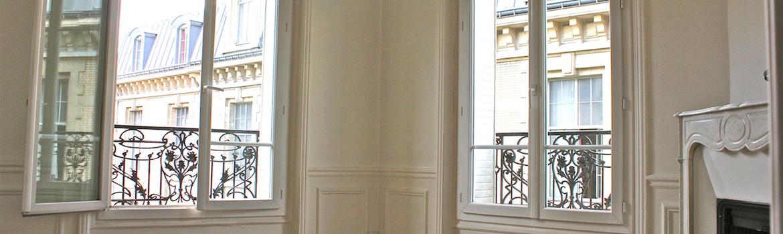 De nouvelles menuiseries dans un appartement ancien permettent d'améliorer la facture énergétique