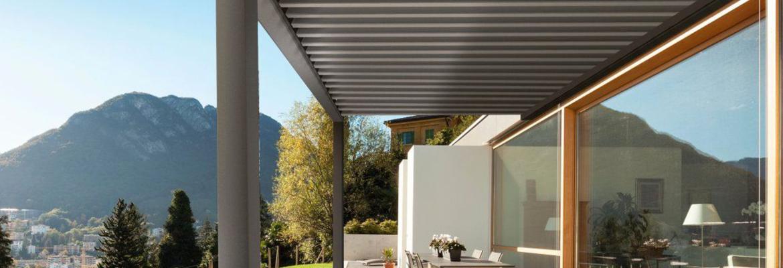 Pergola aluminum lames orientables votre terrasse passe au bioclimatique - Pergola aluminium lames orientables ...