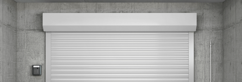 Porte de garage avec coffre de 300mm