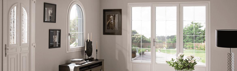 Porte-fenêtre sur mesure en PVC