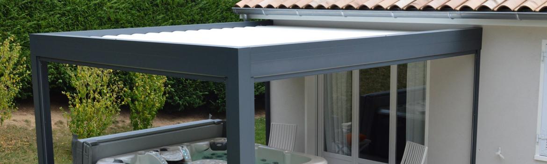 Structure pour pergola bioclimatique, esthétique et design