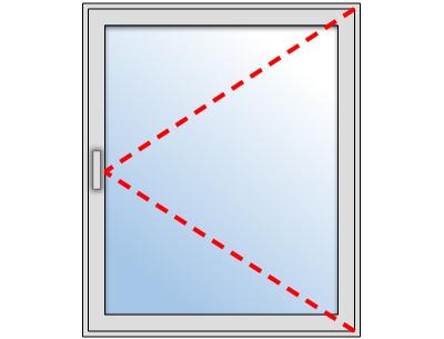 Fen tre pvc 1 vantail sur mesure gamme softline pose en for Aeration sur fenetre pvc
