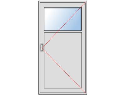 Remarquable Porte de service avec oculus en aluminium sur mesure, gamme TS-51