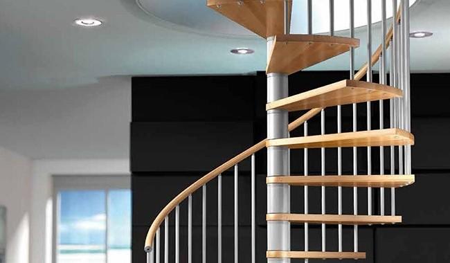 Escalier colimaçon circulaire fute tx