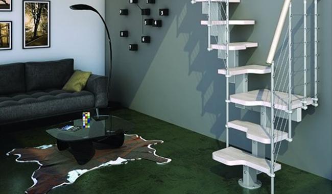 Escalier modulaire spécial accès réduit diti
