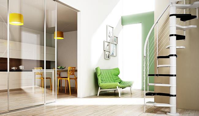Escalier spécial accès réduit mage