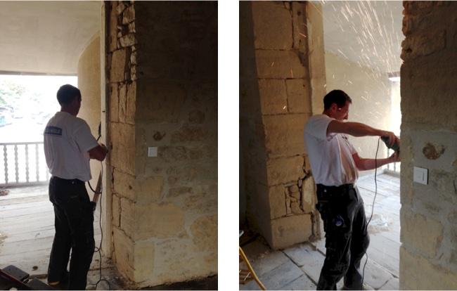 Dépose des anciennes fenêtres et ajustement des feuillures