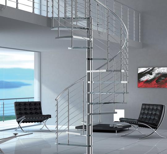 L'escalier colimaçon circulaire modulaire