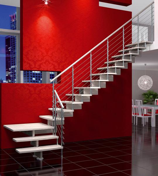 Escaliers droits et quart tournant