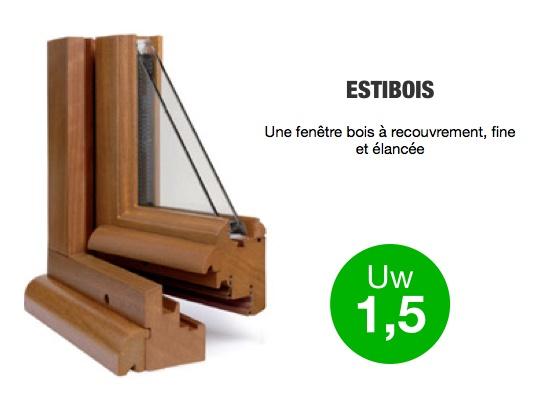 Fenêtre bois, gamme ESTIBOIS