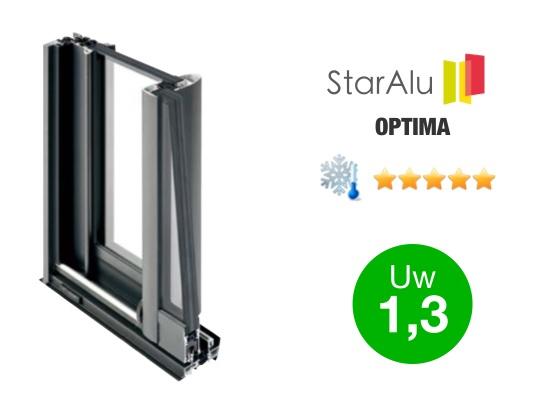 Gamme de fenêtres aluminium STARALU OPTIMA