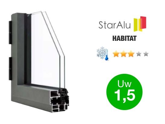 Gamme de fenêtres aluminium STARALU HABITAT