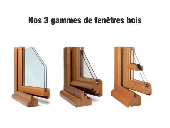 Nos 3 gammes de fenêtres bois sur mesure