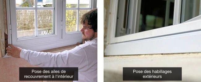 Poser une fen tre en renovation for Aile de recouvrement fenetre pvc