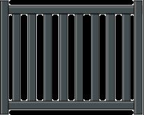 Portillon aluminium hades sur mesure