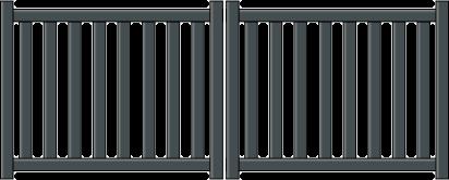 Portail aluminium hades sur mesure
