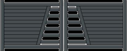 Portail aluminium harmonie