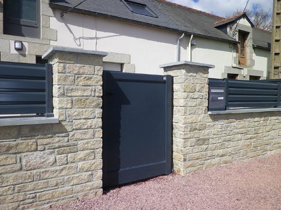 Portail en aluminium sur mesure portail ext rieur - Portail et portillon alu pas cher ...