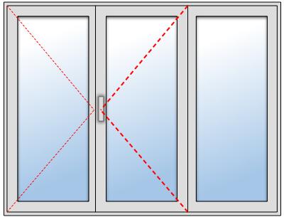 Fenêtre PVC 2 vantaux 1 fixe sur mesure