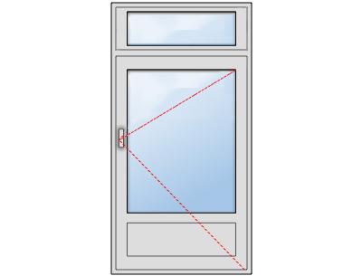 Porte-fenêtre Châssis composé