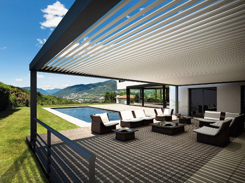 Pergola alu pergola moderne aluminium orion menuiseries - Pergola aluminium lames orientables ...