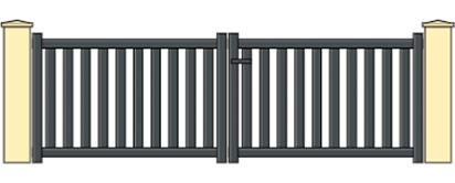 Portail aluminium battant 3m