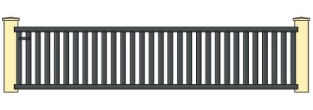 Portail aluminium coulissant 4m