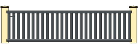 Portail coulissant aluminium 3m5