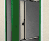 Porte de garage sectionnelle lateral
