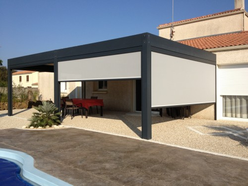 Eclairage LED - pergola bioclimatique